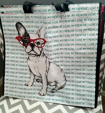 NWT French Bulldog Tote with glasses