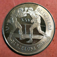 Caribe 5 Pesos 1987 plata Olimpiada Barcelona 92 @ PROOF @