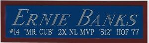 ERNIE BANKS CHICAGO CUBS NAMEPLATE FOR YOUR AUTOGRAPHED Signed BASEBALL JERSEY