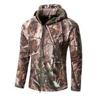 New Mens Showerproof Realtree Jungle Print Army Camouflage Hunting Jacket Coat