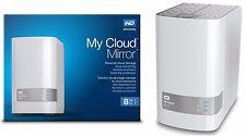 8TB Western Digital WD My Cloud MIRROR External Hard Drive WDBZVM0080JWT