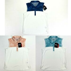 Puma Top Dye SL Golf Polo Shirt Blue Peach Milky Womens SZ Small ( 597689 )