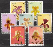 1Cuba 1972 Mi 1751-1757 Orchids  - MNH