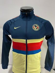 Nike Club America 20/21  N98 LE Soccer Jacket Yellow Blue Red Mens Large   Only