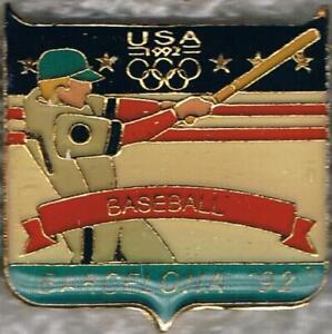 1992 Barcelona USA Olympic Baseball Team NOC Sports Pin
