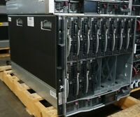 HP Proliant C7000 Enclosure 507019-B21 w/ 11x BL460c G7, 6x 500242-001 2450W PSU