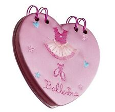 Mädchen rosa Satin Ballett Herz Notebook Weihnachten Geburtstagsgeschenk