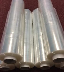 6 X STRONG ROLLS CLEAR PALLET STRETCH SHRINK WRAP CAST 400mm 17 Micron