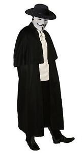 Vendetta Old English Victorian Guy Fawkes Highway Man Halloween Fancy Dress