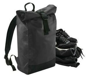 Tarp Roll Top Backpack Waterproof Rucksack Bag Urban Style Mens Womens Pack