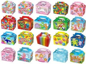 Party Food Boxes Loot Lunch Meal Cardboard Gift Childrens Kids Happy Birthday