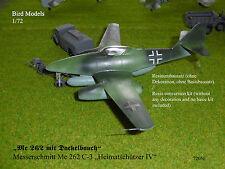 Me 262 mit Dackelbauch     1/72 Bird Models Umbausatz / resin conversion