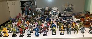 67 Collectors Edition Halo Figures And Vehicles Mega Bloks Construx. Like New.