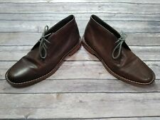 Cole Haan Grand O Chukka Boot Shoes Men Size 10 M Brown Leather