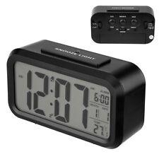 LCD Digital Wecker Alarm Wecker Tischuhr Thermometer Temperaturanzeige Kalender