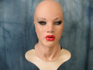 Latex Mask MAYLEE RED B +LASHES Real. Female Rubber Mask Face Trans Sissy