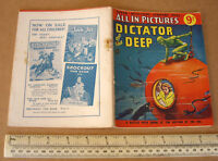 Dictator of the Deep 1950s Vintage Super Detective Library Comic #42. Scarce