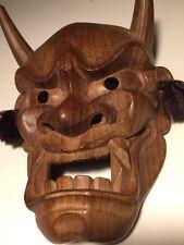 Japanese Fine-Art, Hannya (般若) Mask,Yakusugi Wood, Signed: Yamanaka - UNESCO