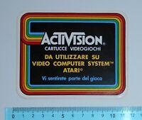 VINTAGE ADESIVO STICKER AUTOCOLLANT ACTIVISION VIDEOGIOCHI ANNI'80 11x9 cm