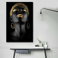 African Woman Abstract  on Canvas Painting Wall Picture Print Home Decor