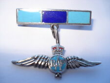 VINTAGE R.A.F.COLOURS SILVER SWEETHEARTS BAR PIN BROOCH