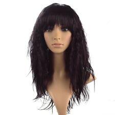 Namecute Ombre pelucas Oscuro Vino Rizado Peluca Peluca de Mujer Largo Kinky kankalon con Bang
