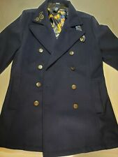 Doctor Dr Who Hot Topic BBC TARDIS Coat Size Small Jacket Cosplay Embroidery SM
