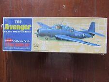GUILLOW'S GRUMMAN TBF AVENGER U.S.NAVY WW2 TORPEDO BOMBER - KIT 509 MINT IN BOX