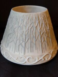 Yankee Candle Large Shade Topper Bare Winter Trees Forest Snowing Christmas