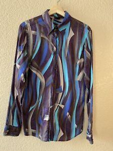 Vintage Versace men's button down shirt, Small