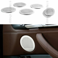 6PC Steel Speaker Audio Ring Decoration Cover Trim For BMW 5GT X5 X6 F07 E70 E71