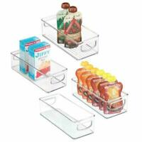 Mdesign Stackable Plastic Food Storage Bin With Handles For Kitchen Pantry, Cabi