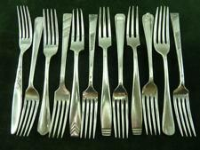 12 Vintage EPNS  Dinner Table forks Mixed Patterns Mixed Makers silver plated #3