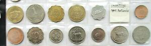 Mauritius Cents Rupie (King George) ab 1950  Lot von 13 Münzen