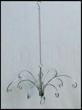 Display Hanger SILVER 23cm wide Mobile 11 Hooks suncatchers MEDIUM hanging rack