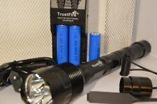 Torcia caccia Potentissima 3600 Lumen Trustfire 3T6 +Tasto Remoto+3 Batterie e c