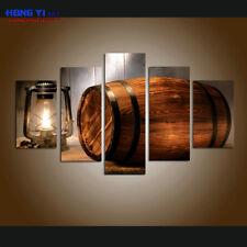 Large Framed Wine barrel Canvas Print Painting Home Decor Wall Art 5 Piece B052