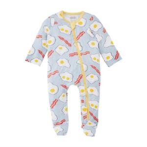 Mud Pie E1 Baby Boy Girl Eggs & Bacon Footed Sleeper 11340003 Choose Size