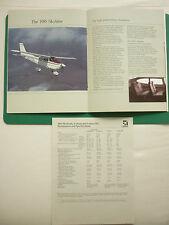 PLAQUETTE 12 PAGES CESSNA AIRCRAFT SKYHAWK CUTLASS SKYLANE CUTLASS RG