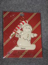 Lenox Personalized Snowman Christmas Tree Ornament Owen