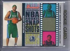 2006-2007 Bowman Basketball Maurice Ager NBA Rookie Snap Shots Relics RC #18/199