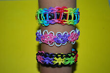 Rainbow Loom Custom Bracelet. Ladder, Butterfly, Starburst. Proceeds to Charity.