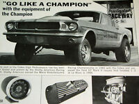 1966-1967 FORD MUSTANG SHELBY COBRA KITS ORIGINAL AD *GT 350/500/decal/hood/tach