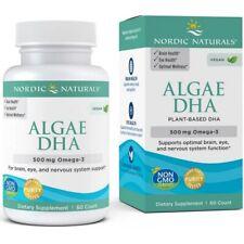 Nordic Naturals Algae Omega-3 DHA 500 mg 60 capsules, FREE P&P