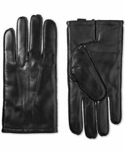 Isotoner Men's Driving Gloves Black Size XL Solid Wrist Leather $80 #403