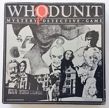"VINTAGE SELCHOW & RIGHTER ""WHODUNIT""  BOARD GAME 1985 RARE"