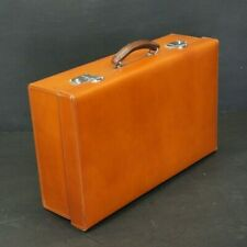 Stunning Gentleman's Leather Travel Suitcase With Key & Storm Cover