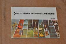 Fender vintage catalog booklet. 1968  Case Candy.