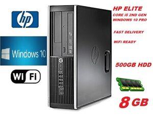 HP PC COMPUTER DESKTOP Core i5 8GB RAM 500GB HDD WIN 10 PRO WiFi FREE DELIVERY