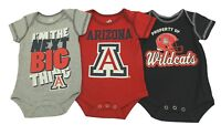 NCAA Official Arizona Wildcats 3 Piece Infant Baby Creeper set New With Tags